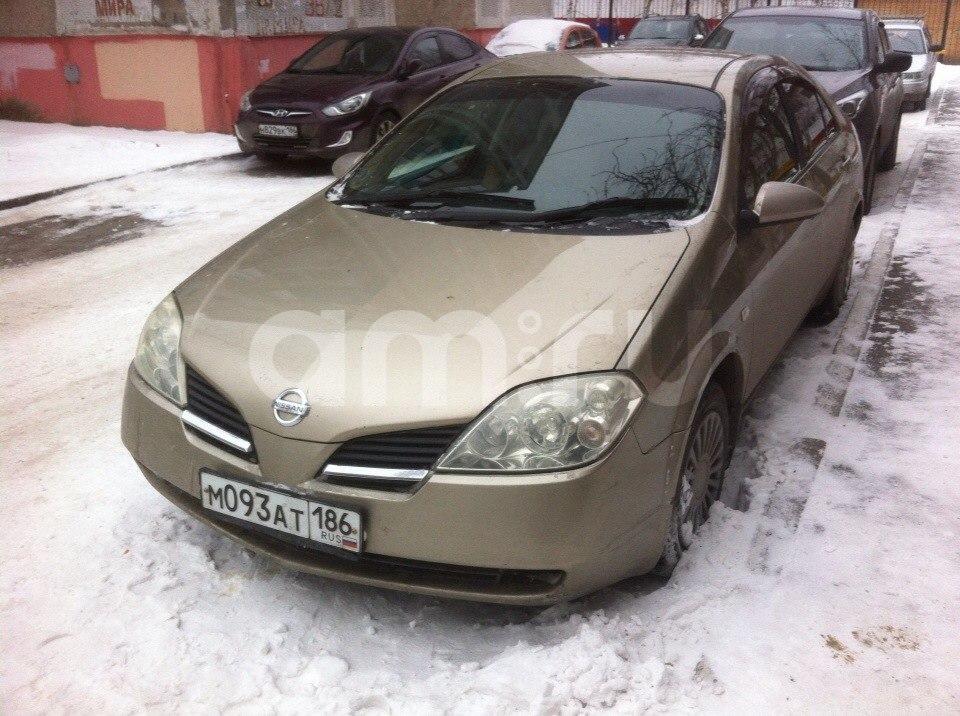 Подержанный Nissan Primera, хорошее состояние, бронзовый , 2001 года выпуска, цена 215 000 руб. в ао. Ханты-Мансийском Автономном округе - Югре