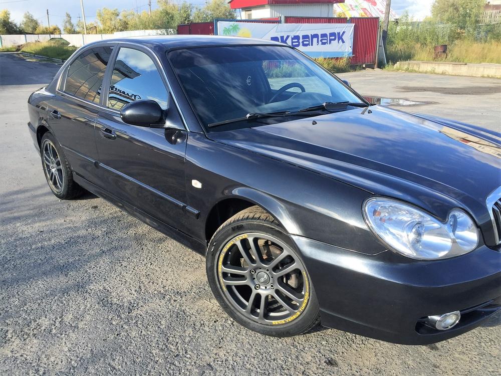 Подержанный Hyundai Sonata, хорошее состояние, черный металлик, 2007 года выпуска, цена 310 000 руб. в ао. Ханты-Мансийском Автономном округе - Югре