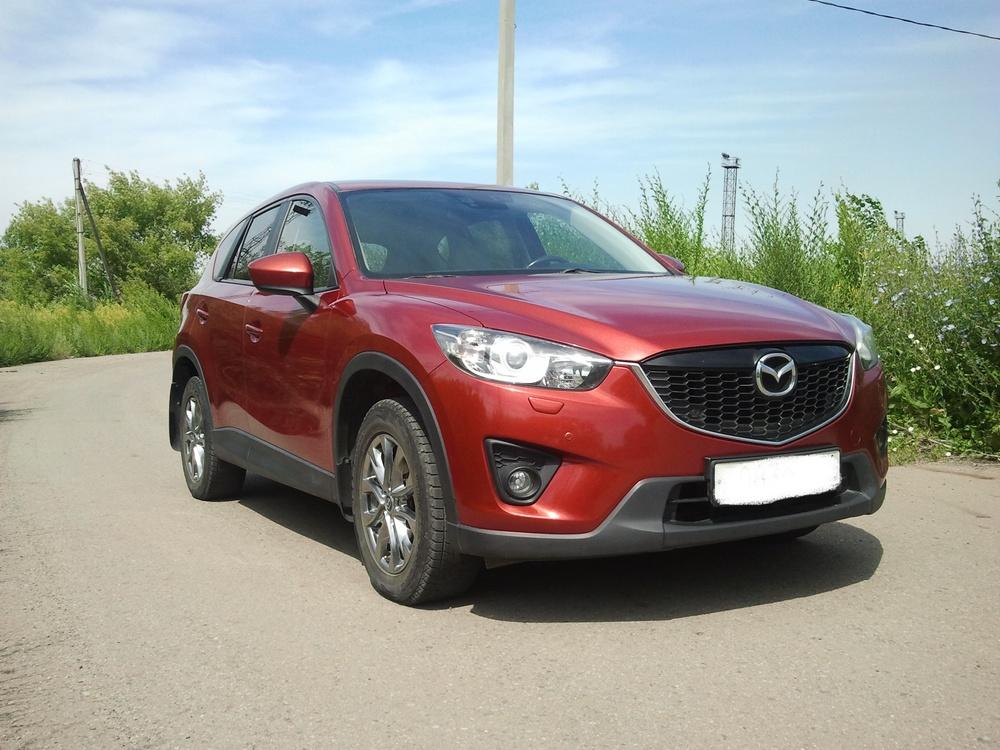Подержанный Mazda CX-5, отличное состояние, красный металлик, 2012 года выпуска, цена 990 000 руб. в Челябинской области