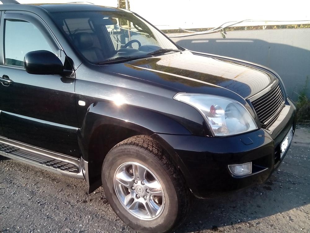 Подержанный Toyota Land Cruiser Prado, хорошее состояние, черный , 2008 года выпуска, цена 1 230 000 руб. в ао. Ханты-Мансийском Автономном округе - Югре