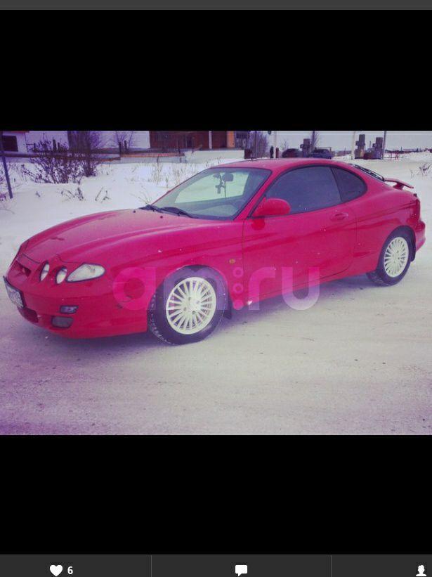 Подержанный Hyundai Coupe, среднее состояние, красный , 2000 года выпуска, цена 265 000 руб. в Челябинской области