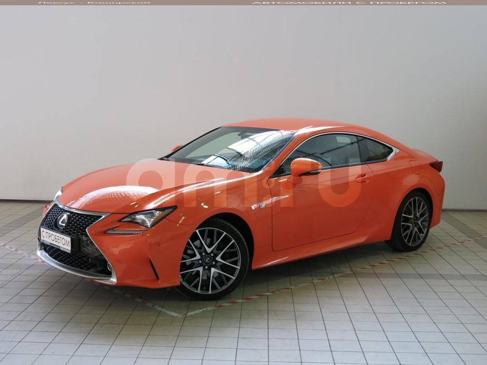 Lexus RC с пробегом, оранжевый металлик, отличное состояние, 2015 года выпуска, цена 3 200 000 руб. в автосалоне СП БИЗНЕС КАР (Москва, пр-кт Балаклавский, д. 26)
