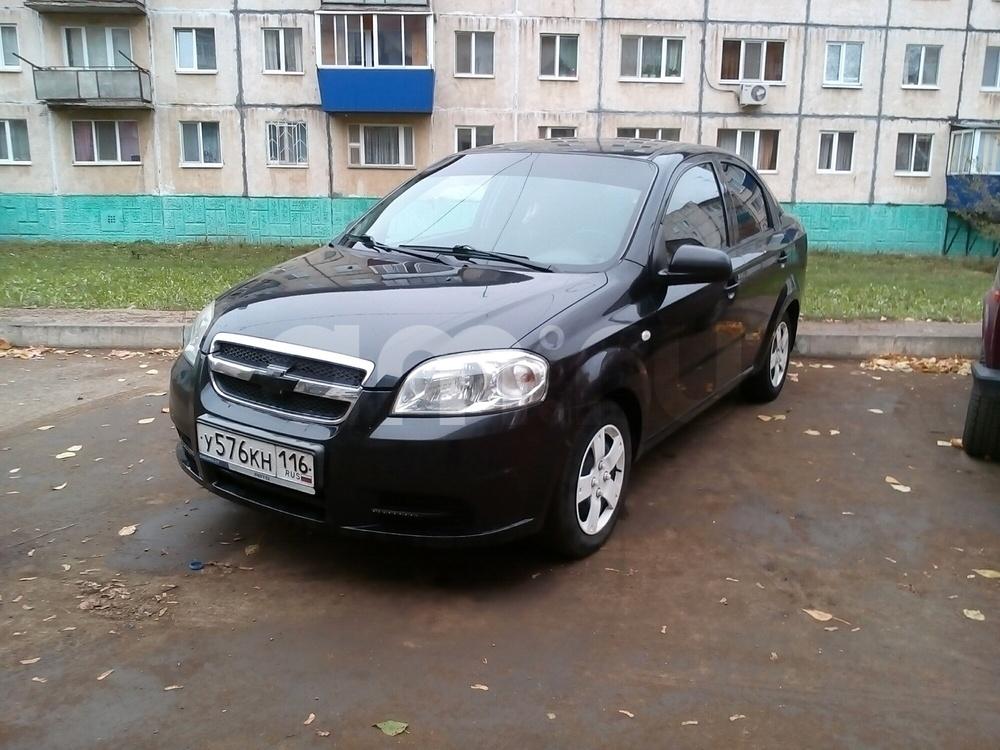 Подержанный Chevrolet Aveo, отличное состояние, черный перламутр, 2008 года выпуска, цена 279 000 руб. в республике Татарстане