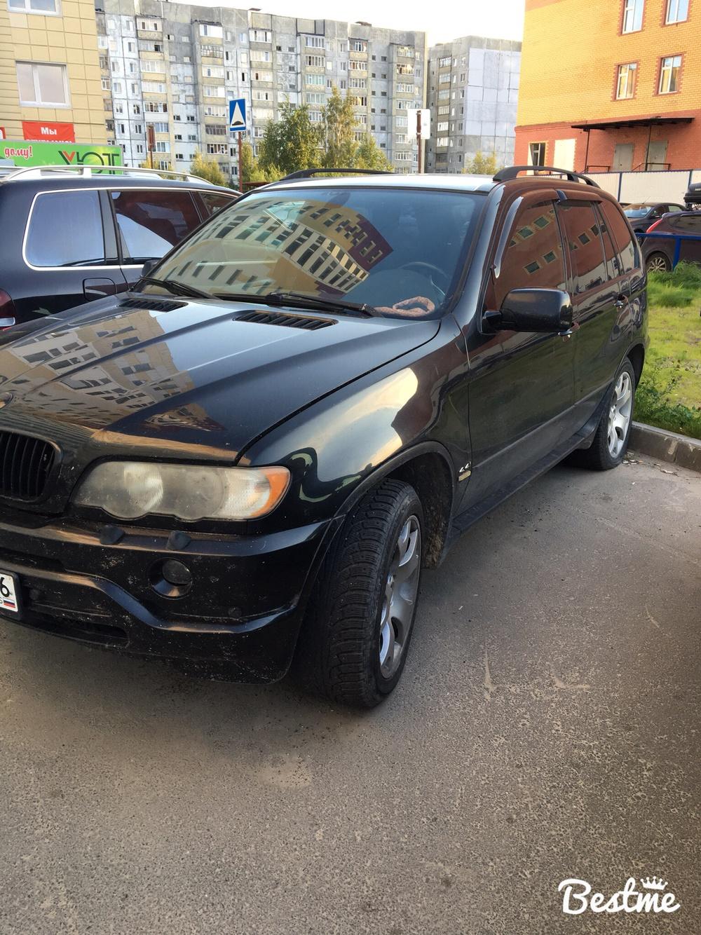 Подержанный BMW X5, среднее состояние, черный , 2002 года выпуска, цена 450 000 руб. в ао. Ханты-Мансийском Автономном округе - Югре