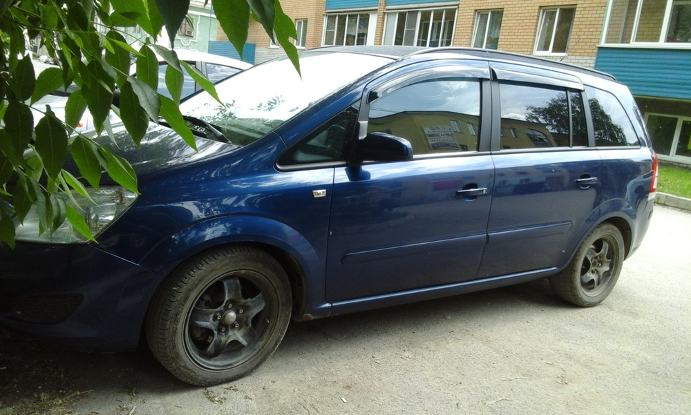 Подержанный Opel Zafira, хорошее состояние, синий , 2008 года выпуска, цена 380 000 руб. в Челябинской области