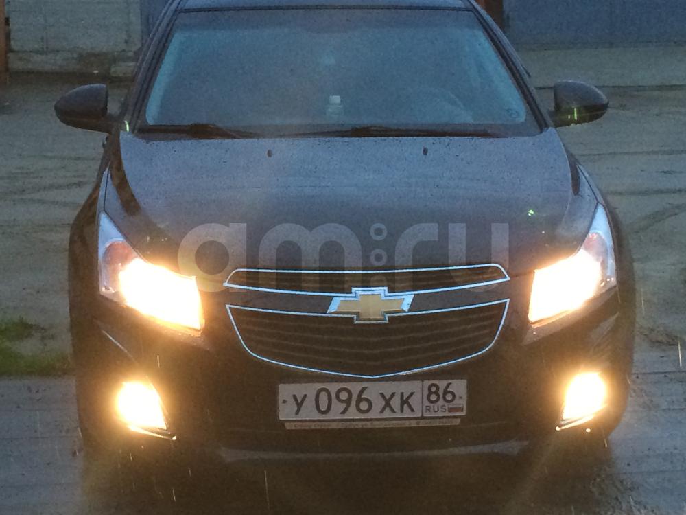 Подержанный Chevrolet Cruze, отличное состояние, черный , 2013 года выпуска, цена 550 000 руб. в ао. Ханты-Мансийском Автономном округе - Югре