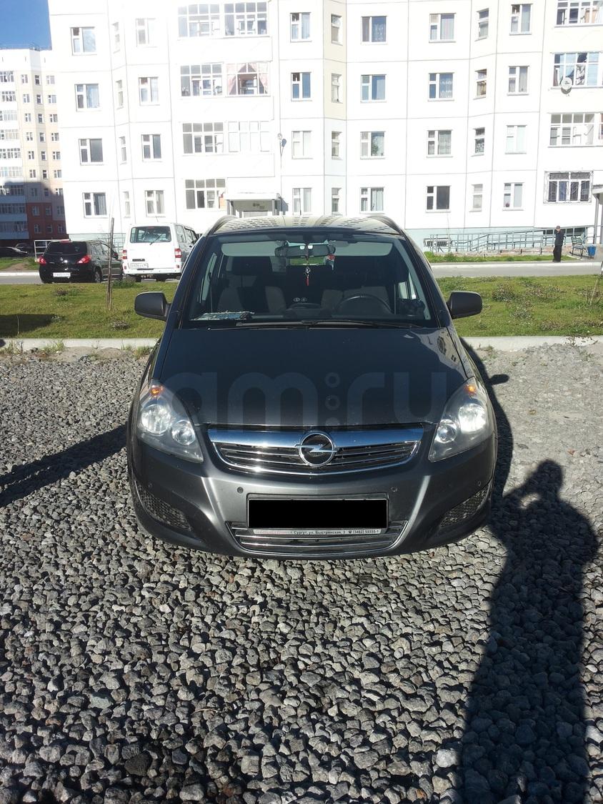 Подержанный Opel Zafira, хорошее состояние, серый , 2012 года выпуска, цена 680 000 руб. в ао. Ханты-Мансийском Автономном округе - Югре