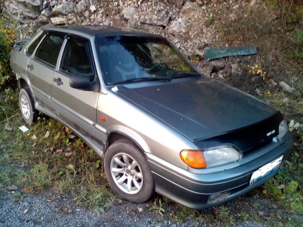 Подержанный ВАЗ (Lada) 2115, битый состояние, серый , 2006 года выпуска, цена 40 000 руб. в Челябинской области