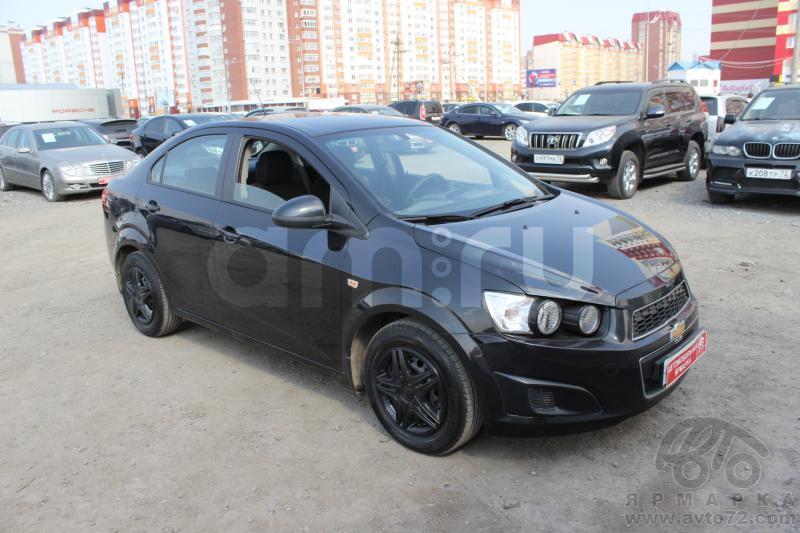 Chevrolet Aveo с пробегом, черный металлик, хорошее состояние, 2013 года выпуска, цена 437 000 руб. в автосалоне  ()