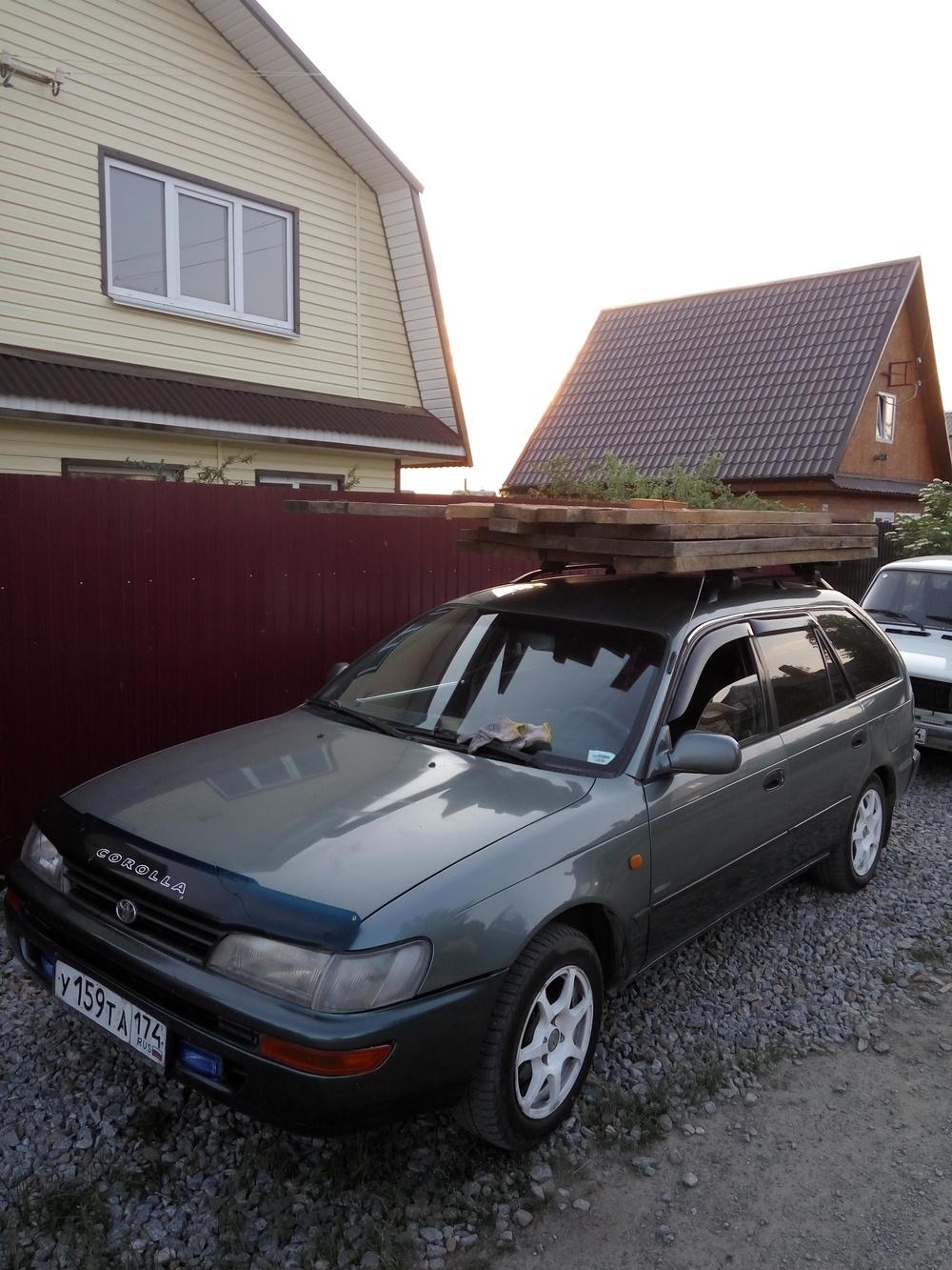 Подержанный Toyota Corolla, среднее состояние, серый металлик, 1994 года выпуска, цена 130 000 руб. в Челябинской области