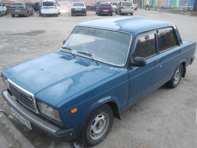 Подержанный ВАЗ (Lada) 2107, хорошее состояние, синий , 2009 года выпуска, цена 65 000 руб. в республике Татарстане