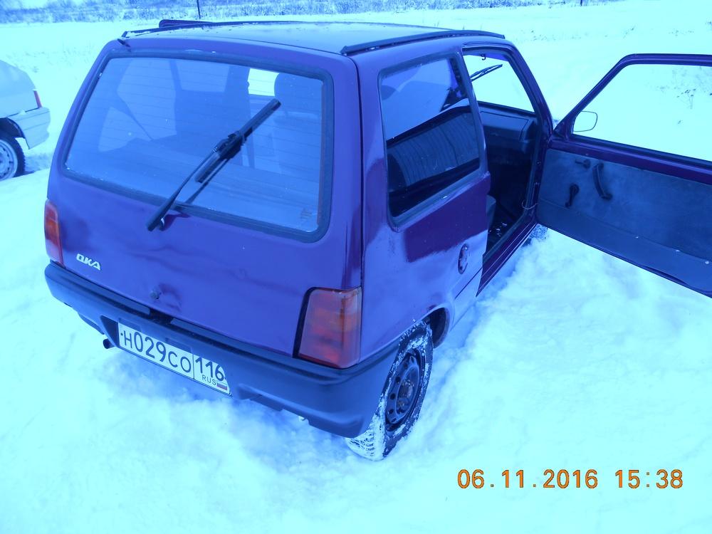 Подержанный ВАЗ (Lada) 1111 Ока, среднее состояние, пурпурный металлик, 2004 года выпуска, цена 25 000 руб. в республике Татарстане