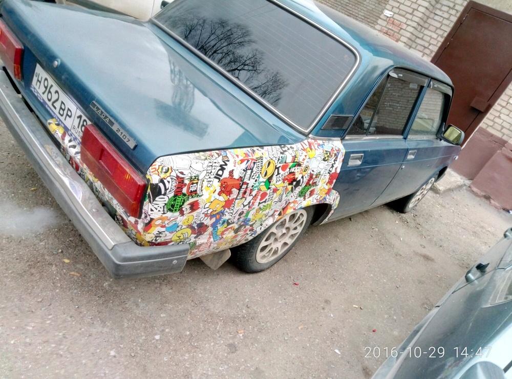 Подержанный ВАЗ (Lada) 2107, хорошее состояние, синий металлик, 2006 года выпуска, цена 45 000 руб. в республике Татарстане