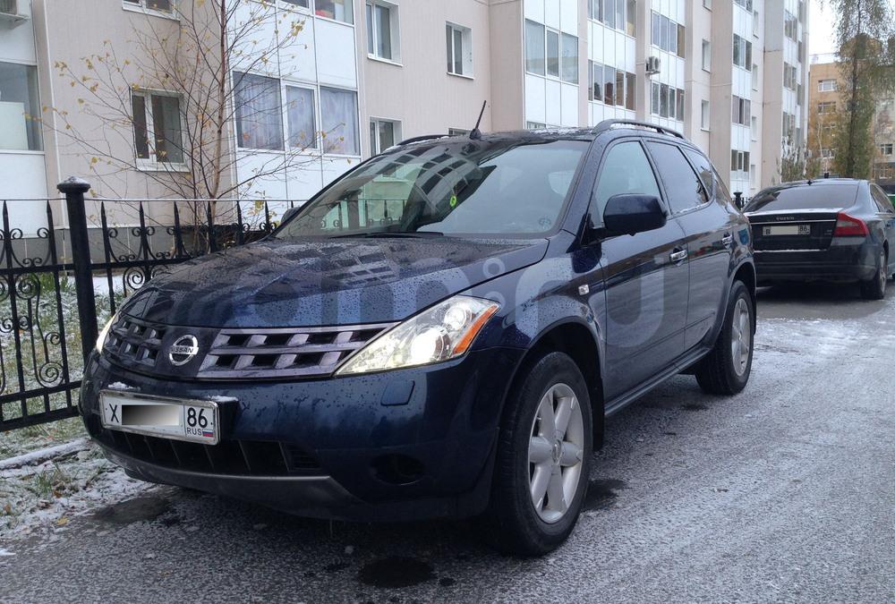 Подержанный Nissan Murano, хорошее состояние, синий перламутр, 2006 года выпуска, цена 640 000 руб. в ао. Ханты-Мансийском Автономном округе - Югре