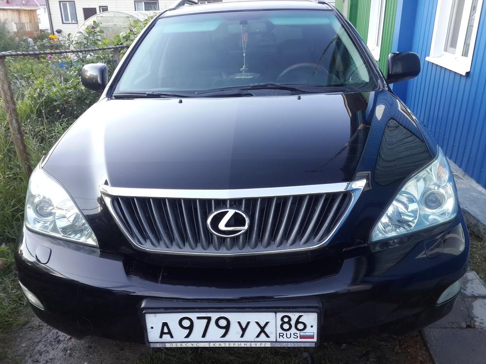 Подержанный Lexus RX, отличное состояние, черный металлик, 2008 года выпуска, цена 925 000 руб. в ао. Ханты-Мансийском Автономном округе - Югре