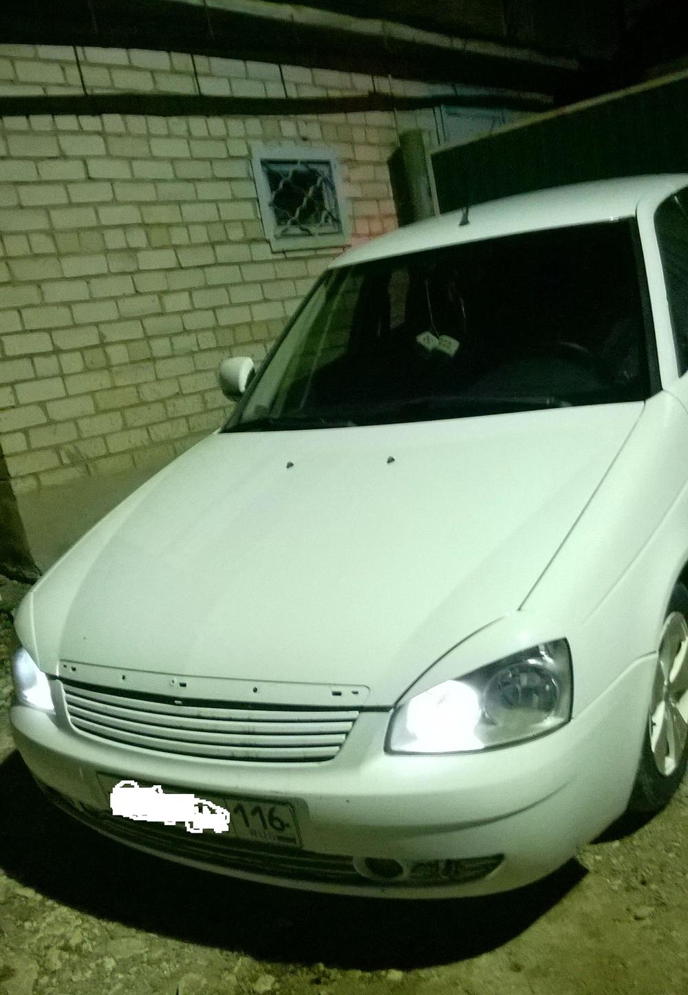 Подержанный ВАЗ (Lada) Priora, отличное состояние, белый , 2012 года выпуска, цена 226 000 руб. в республике Татарстане