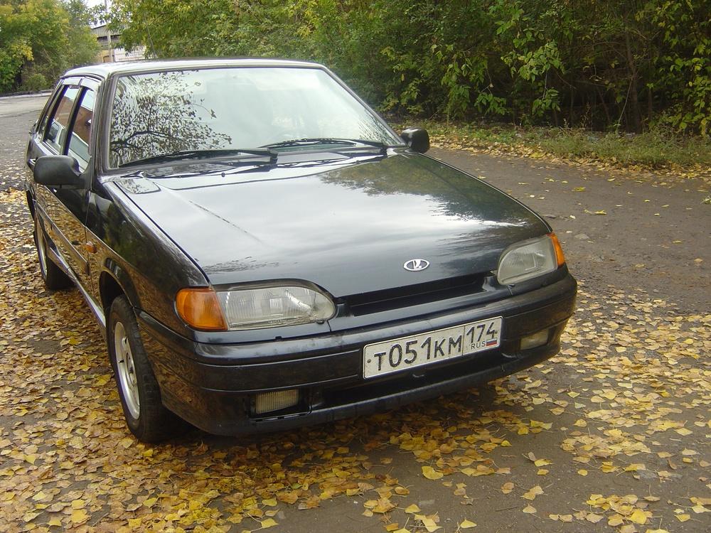 Подержанный ВАЗ (Lada) 2115, хорошее состояние, черный , 2009 года выпуска, цена 145 000 руб. в Челябинской области