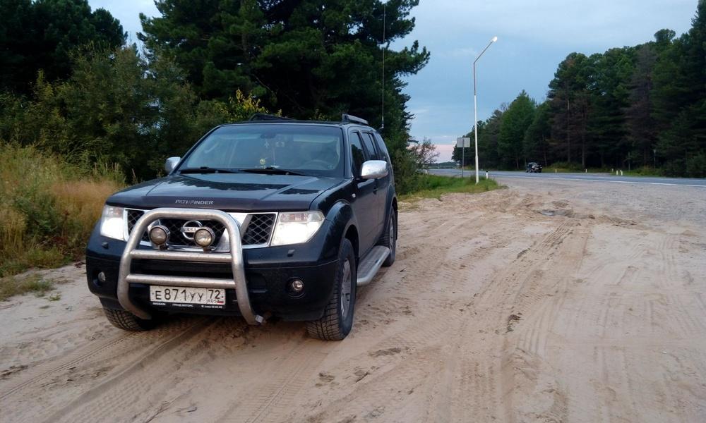 Подержанный Nissan Pathfinder, отличное состояние, черный металлик, 2007 года выпуска, цена 950 000 руб. в ао. Ханты-Мансийском Автономном округе - Югре