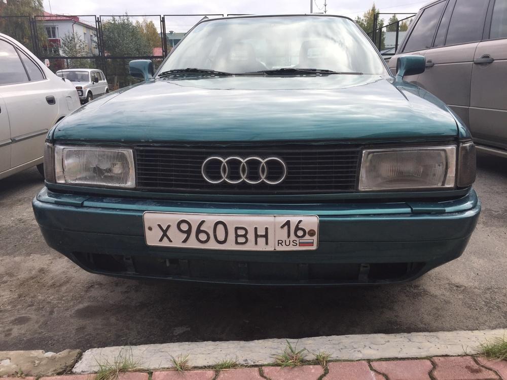 Подержанный Audi 80, хорошее состояние, синий , 1990 года выпуска, цена 70 000 руб. в ао. Ханты-Мансийском Автономном округе - Югре