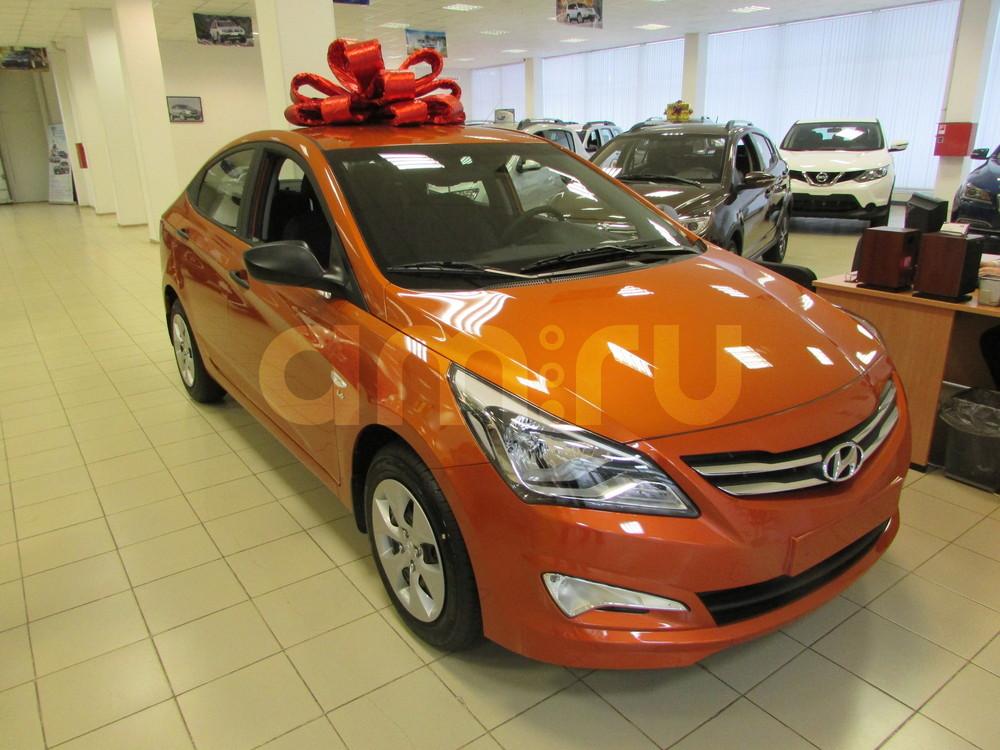 Hyundai Solaris с пробегом, оранжевый перламутр, отличное состояние, 2015 года выпуска, цена 676 000 руб. в автосалоне  ()