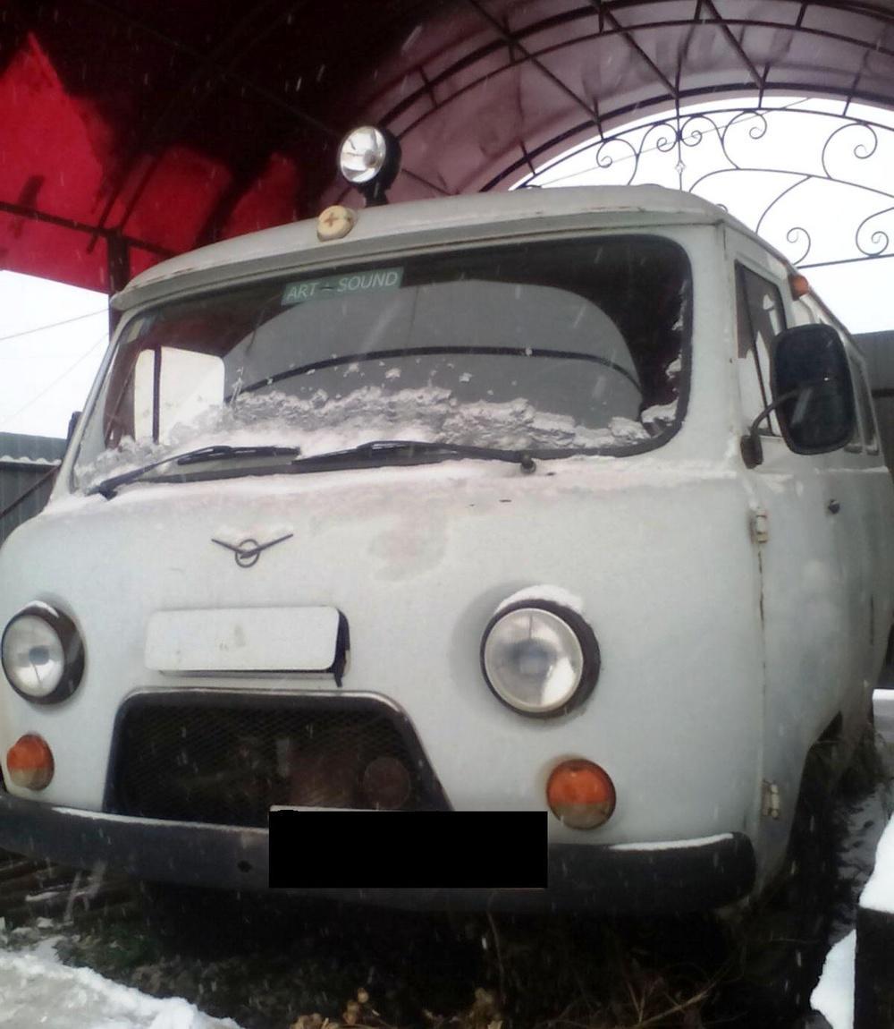 Подержанный УАЗ 3909, хорошее состояние, серый матовый, 1998 года выпуска, цена 95 000 руб. в Челябинской области