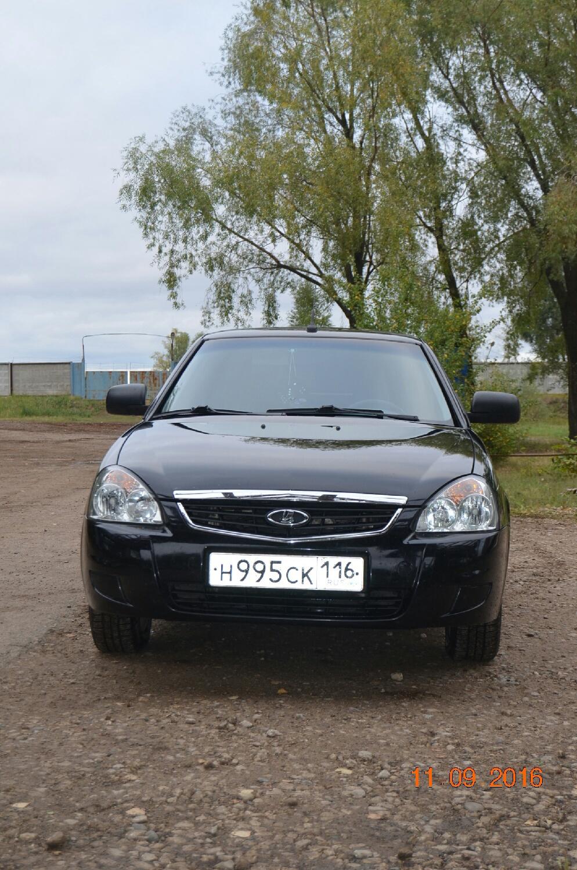 Подержанный ВАЗ (Lada) Priora, отличное состояние, черный , 2013 года выпуска, цена 305 000 руб. в республике Татарстане