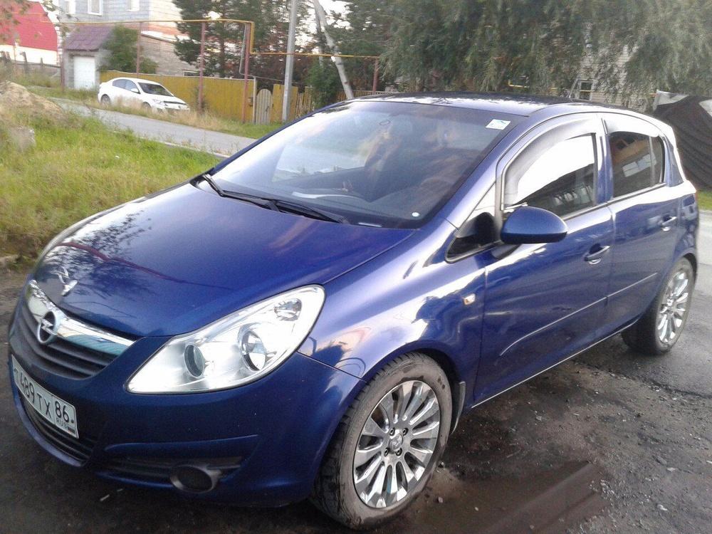 Подержанный Opel Corsa, хорошее состояние, синий , 2006 года выпуска, цена 280 000 руб. в ао. Ханты-Мансийском Автономном округе - Югре
