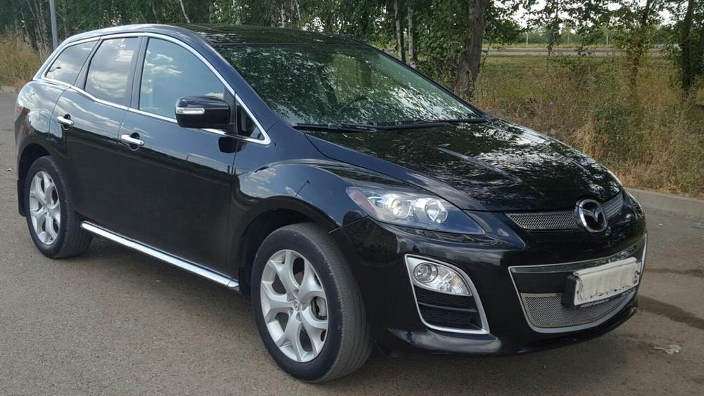 Подержанный Mazda CX-7, хорошее состояние, черный металлик, 2010 года выпуска, цена 880 000 руб. в республике Татарстане