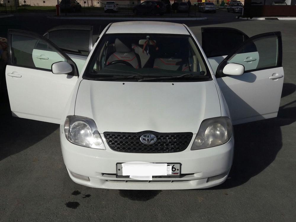 Подержанный Toyota Corolla, отличное состояние, белый , 2001 года выпуска, цена 260 000 руб. в ао. Ханты-Мансийском Автономном округе - Югре