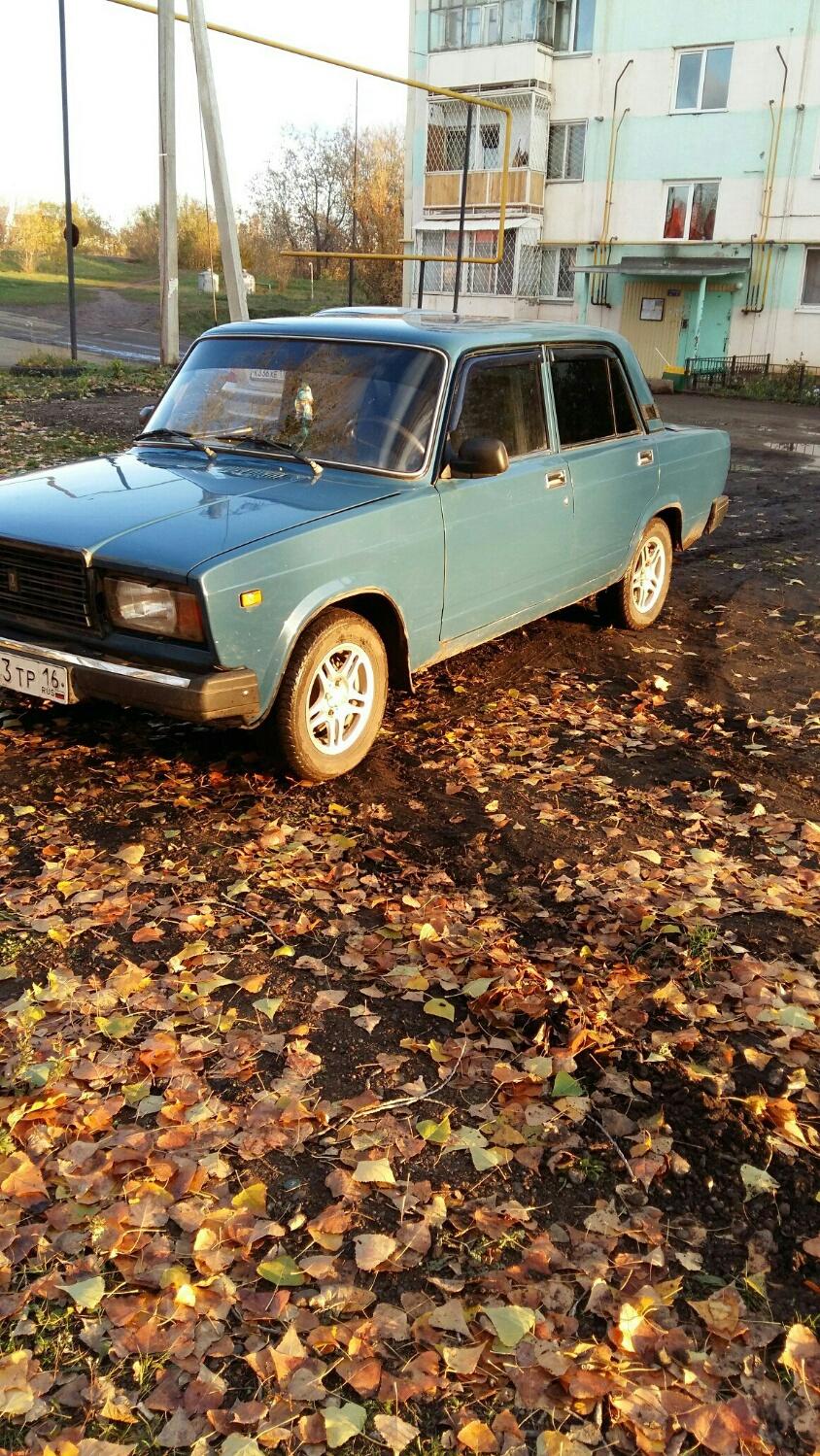 Подержанный ВАЗ (Lada) 2107, хорошее состояние, синий , 2008 года выпуска, цена 65 000 руб. в республике Татарстане