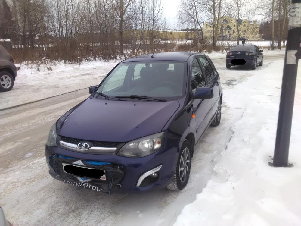Подержанный ВАЗ (Lada) Kalina, хорошее состояние, синий , 2013 года выпуска, цена 330 000 руб. в ао. Ханты-Мансийском Автономном округе - Югре