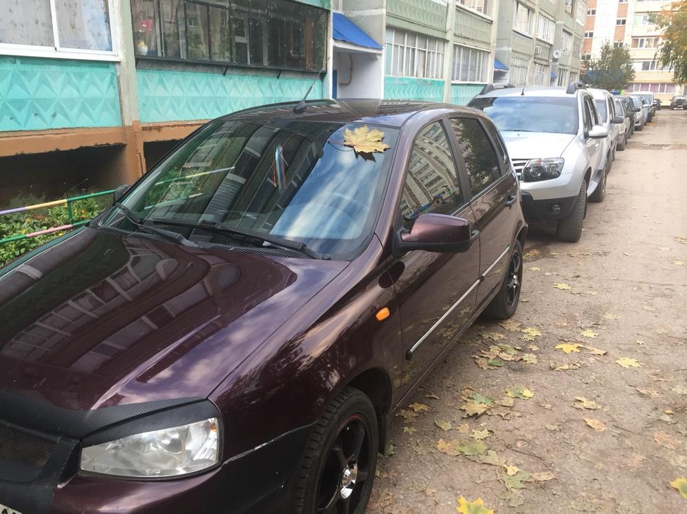 Подержанный ВАЗ (Lada) Kalina, хорошее состояние, вишневый , 2011 года выпуска, цена 250 000 руб. в республике Татарстане