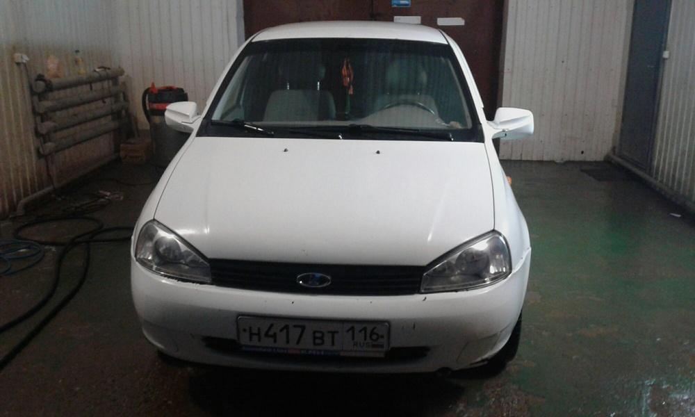 Подержанный ВАЗ (Lada) Kalina, отличное состояние, белый , 2010 года выпуска, цена 165 000 руб. в республике Татарстане