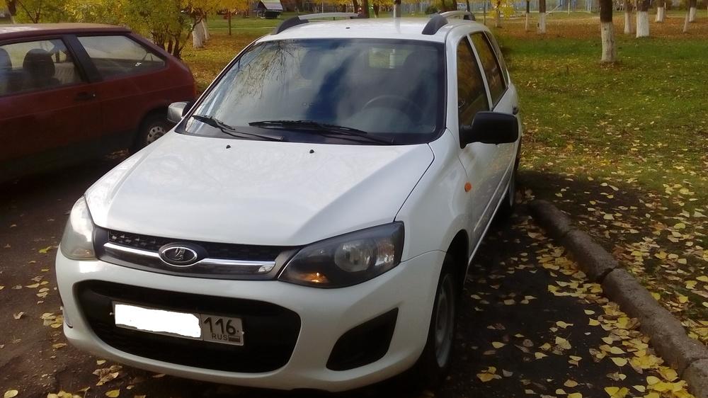 Подержанный ВАЗ (Lada) Kalina, хорошее состояние, белый , 2014 года выпуска, цена 300 000 руб. в республике Татарстане
