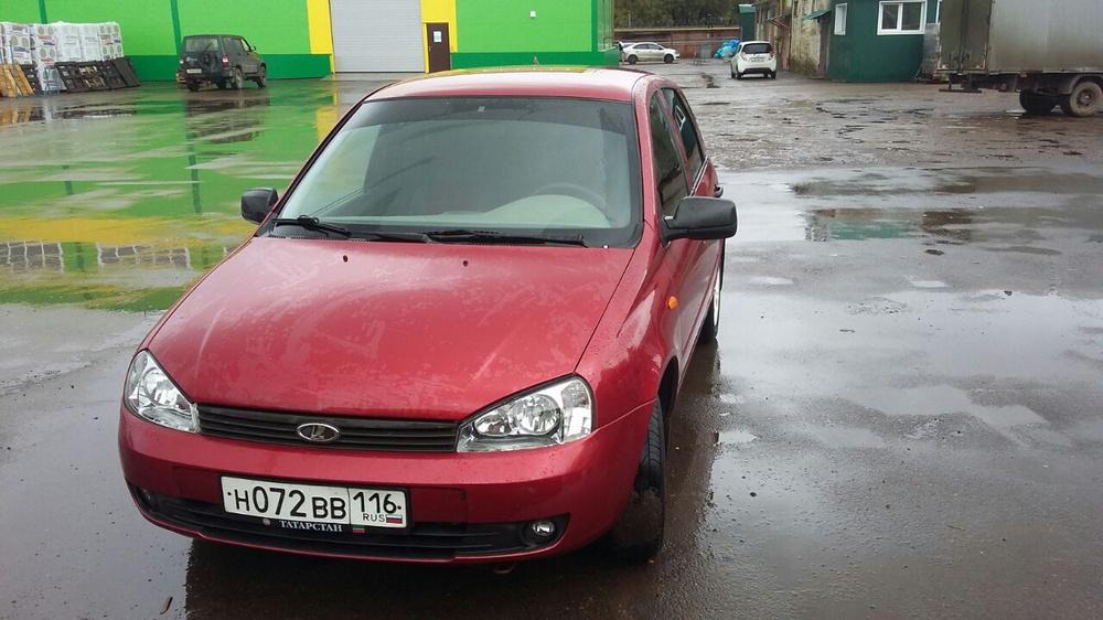 Подержанный ВАЗ (Lada) Kalina, отличное состояние, красный металлик, 2010 года выпуска, цена 185 000 руб. в республике Татарстане