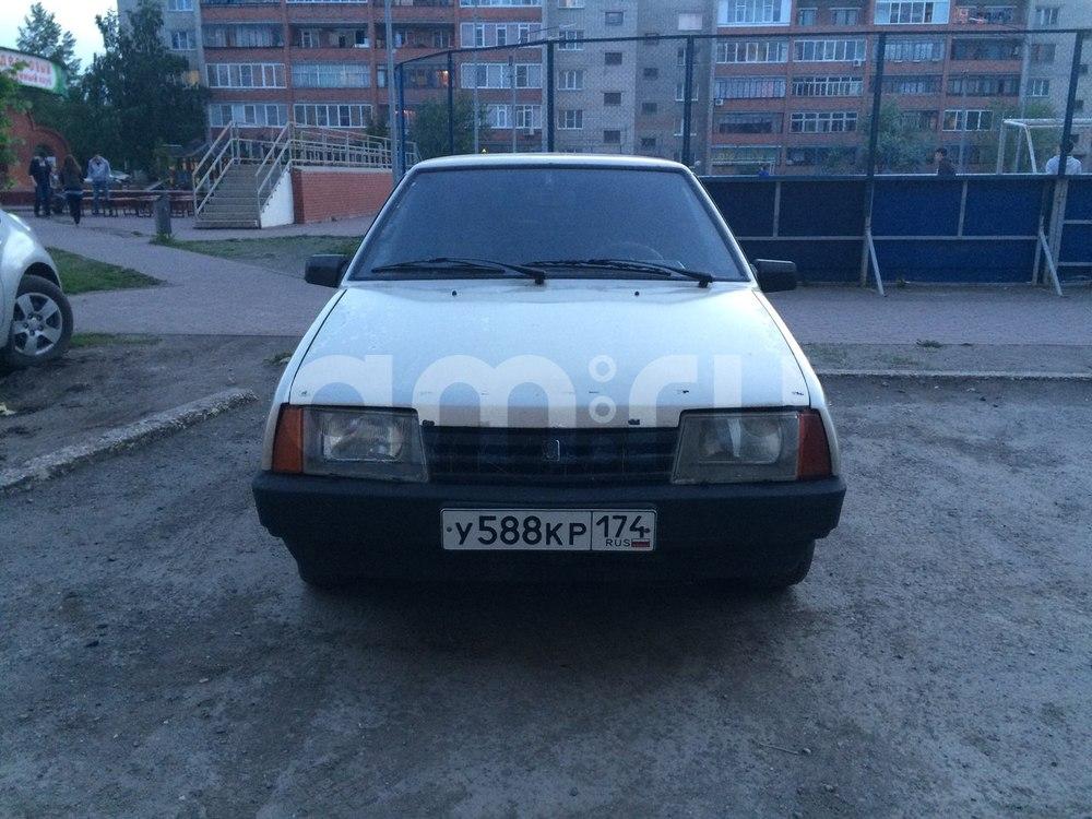 Подержанный ВАЗ (Lada) 2109, среднее состояние, бежевый , 1999 года выпуска, цена 40 000 руб. в Челябинской области