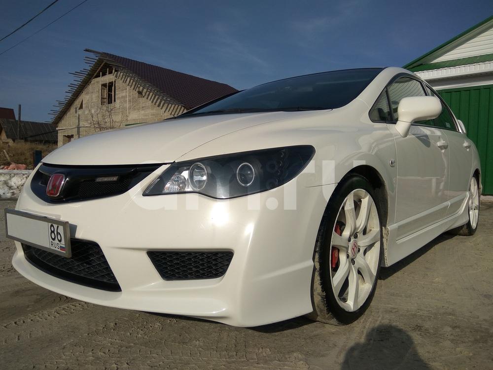 Подержанный Honda Civic, хорошее состояние, белый перламутр, 2007 года выпуска, цена 750 000 руб. в ао. Ханты-Мансийском Автономном округе - Югре