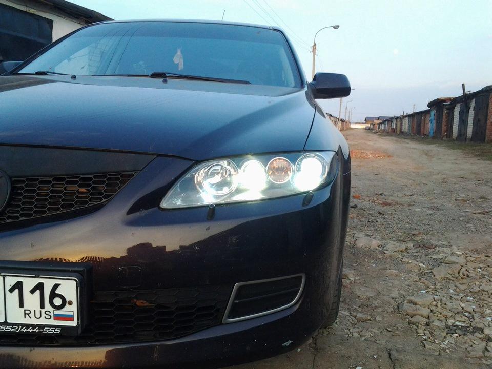 Подержанный Mazda 6, хорошее состояние, фиолетовый металлик, 2007 года выпуска, цена 380 000 руб. в республике Татарстане