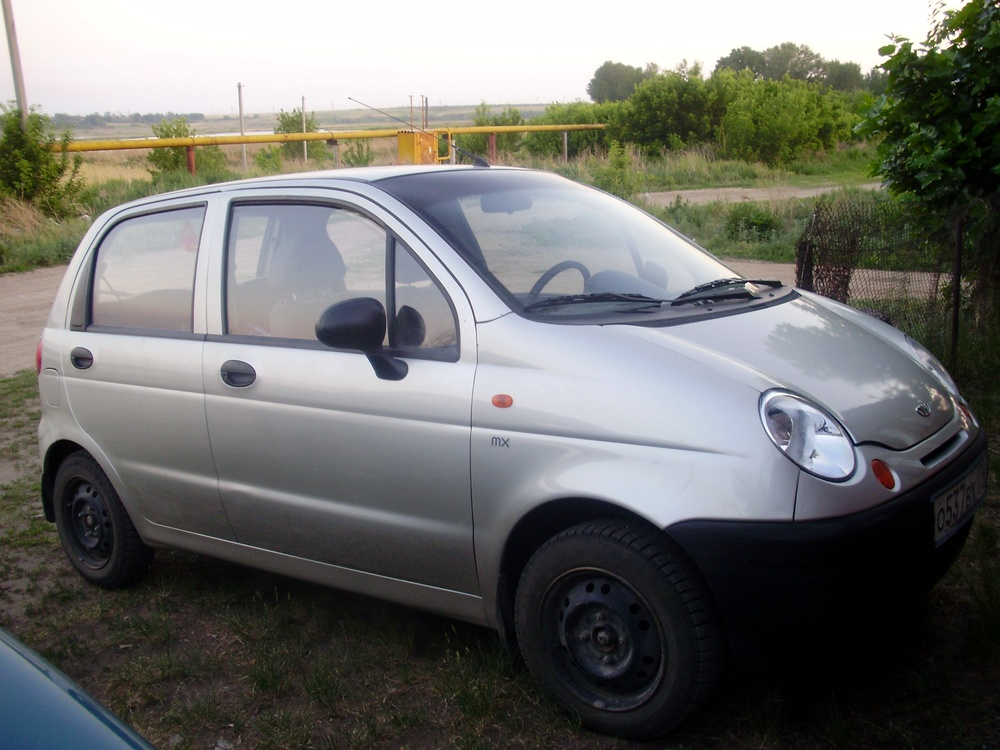 Подержанный Daewoo Matiz, хорошее состояние, серебряный , 2008 года выпуска, цена 150 000 руб. в Челябинской области