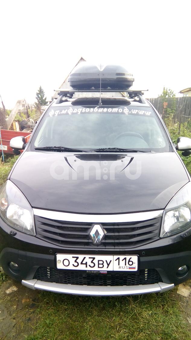 Подержанный Renault Sandero, отличное состояние, черный , 2012 года выпуска, цена 434 000 руб. в республике Татарстане