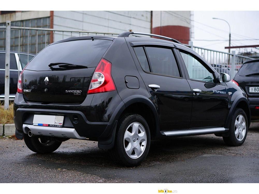 Подержанный Renault Sandero, отличное состояние, черный , 2012 года выпуска, цена 420 000 руб. в республике Татарстане