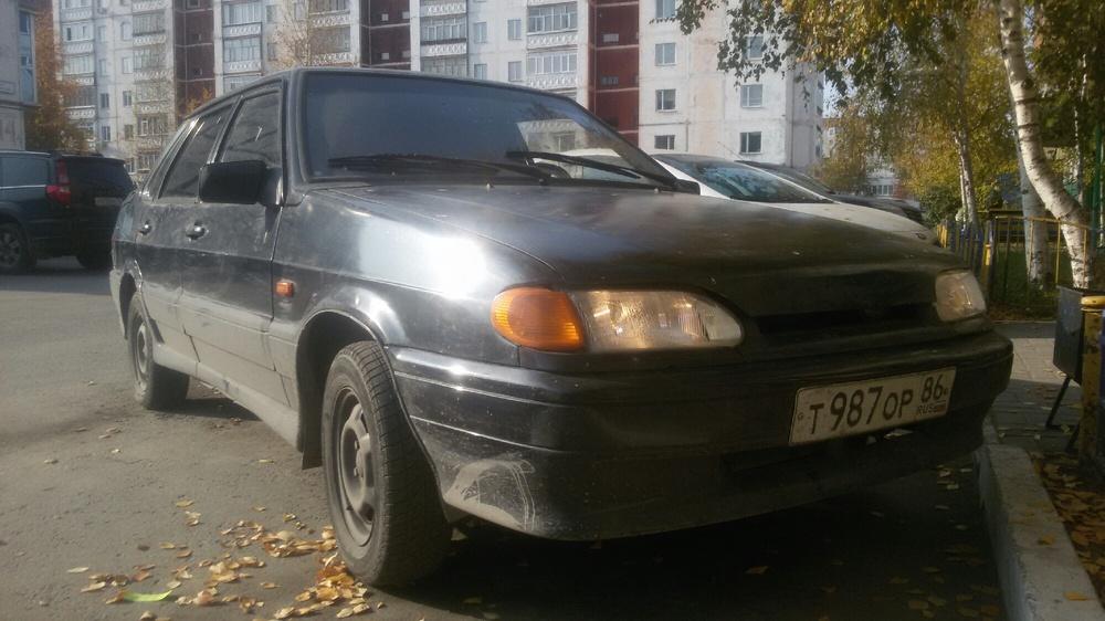 Подержанный ВАЗ (Lada) 2115, хорошее состояние, черный металлик, 2005 года выпуска, цена 80 000 руб. в ао. Ханты-Мансийском Автономном округе - Югре