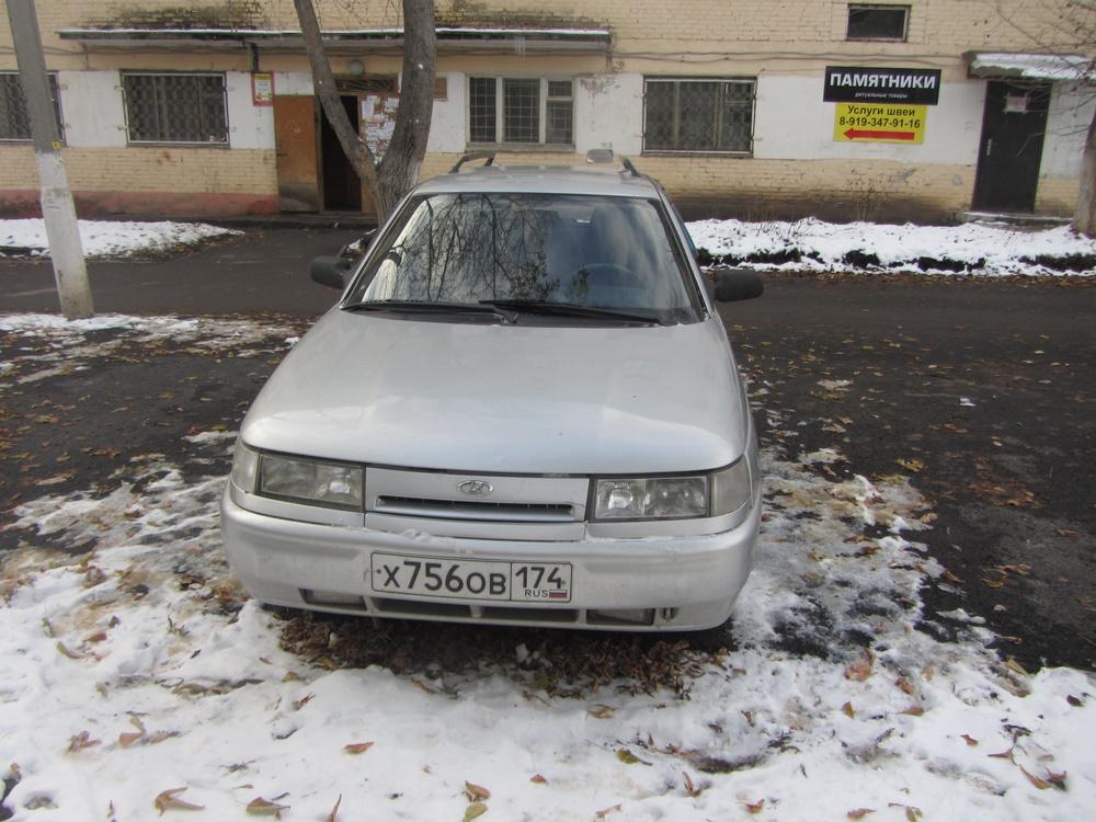 Подержанный ВАЗ (Lada) 2111, хорошее состояние, серебряный , 2003 года выпуска, цена 100 000 руб. в Челябинской области