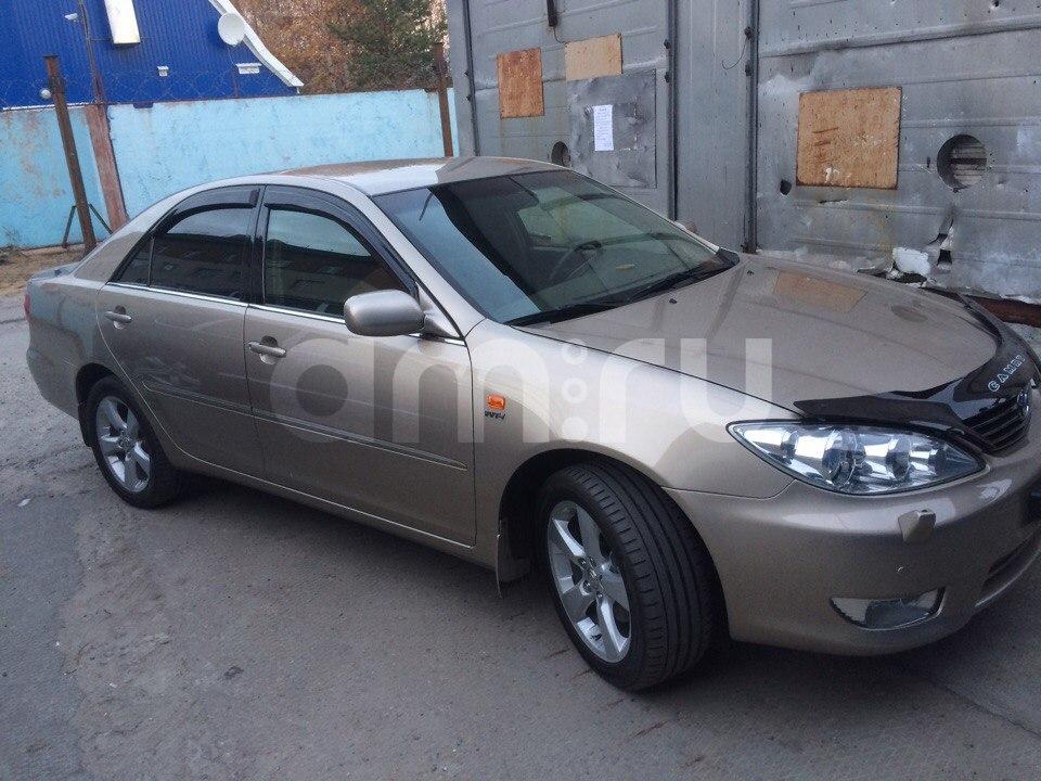 Подержанный Toyota Camry, отличное состояние, бежевый , 2003 года выпуска, цена 450 000 руб. в ао. Ханты-Мансийском Автономном округе - Югре