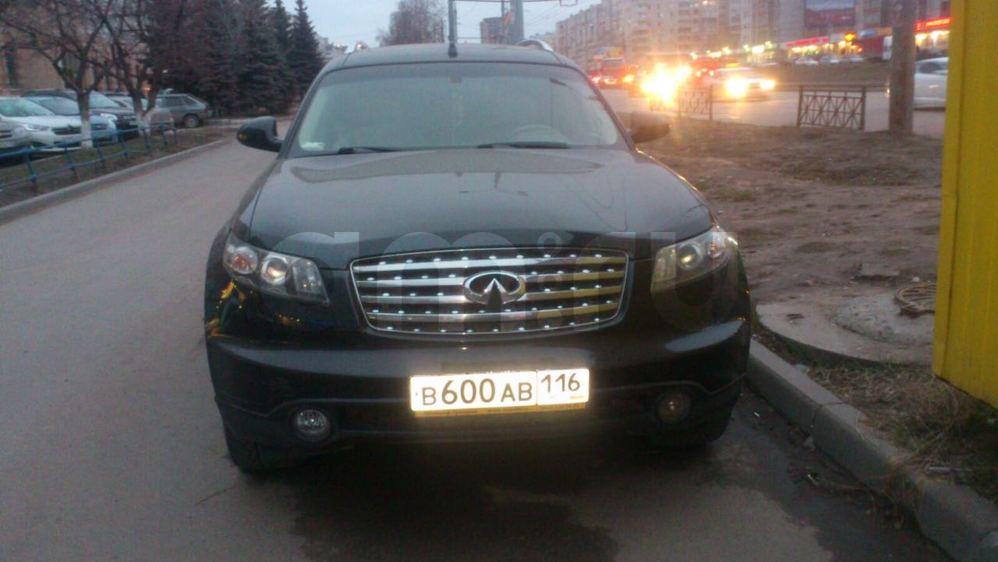 Подержанный Infiniti FX-Series, хорошее состояние, черный металлик, 2004 года выпуска, цена 600 000 руб. в республике Татарстане