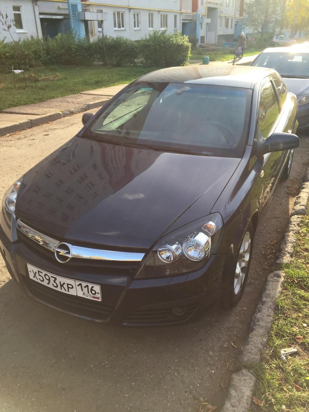 Подержанный Opel Astra, отличное состояние, синий , 2007 года выпуска, цена 355 000 руб. в республике Татарстане