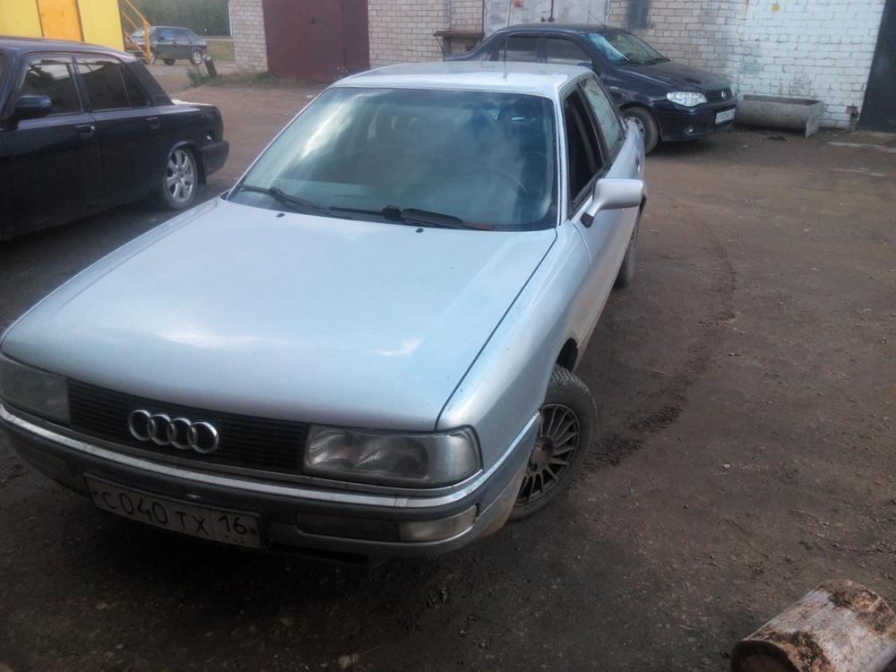 Подержанный Audi 90, среднее состояние, серебряный , 1989 года выпуска, цена 60 000 руб. в республике Татарстане