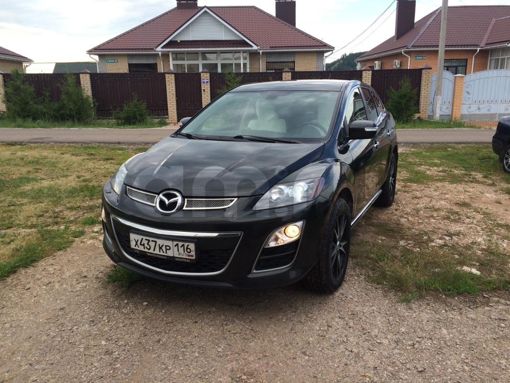 Подержанный Mazda CX-7, отличное состояние, черный металлик, 2011 года выпуска, цена 850 000 руб. в республике Татарстане