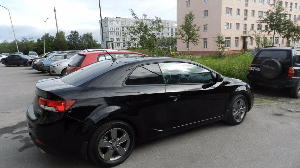 Подержанный Kia Cerato, хорошее состояние, черный , 2010 года выпуска, цена 530 000 руб. в ао. Ханты-Мансийском Автономном округе - Югре