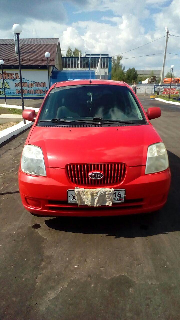Подержанный Kia Picanto, среднее состояние, красный , 2006 года выпуска, цена 195 600 руб. в республике Татарстане